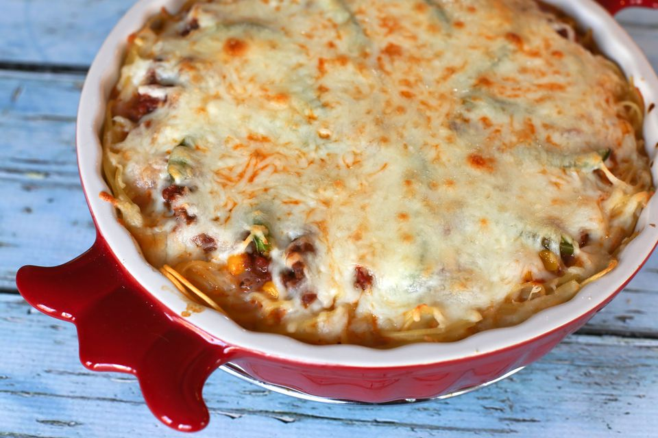 Spaghetti Pie With Ground Beef and Cheese