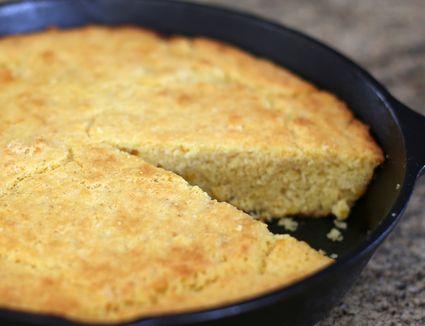 A pan of southern cornbread