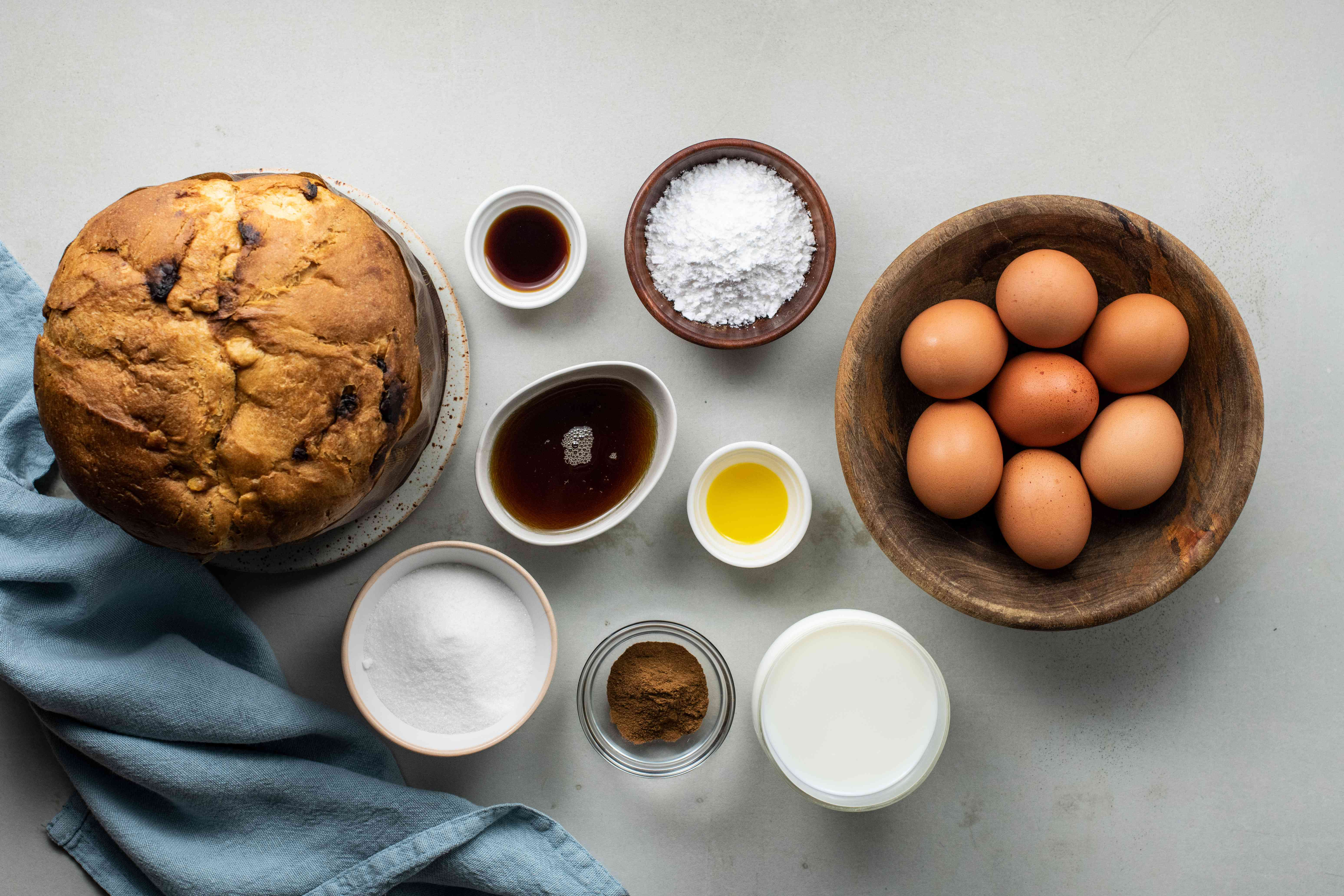 Ingredients for Panettone