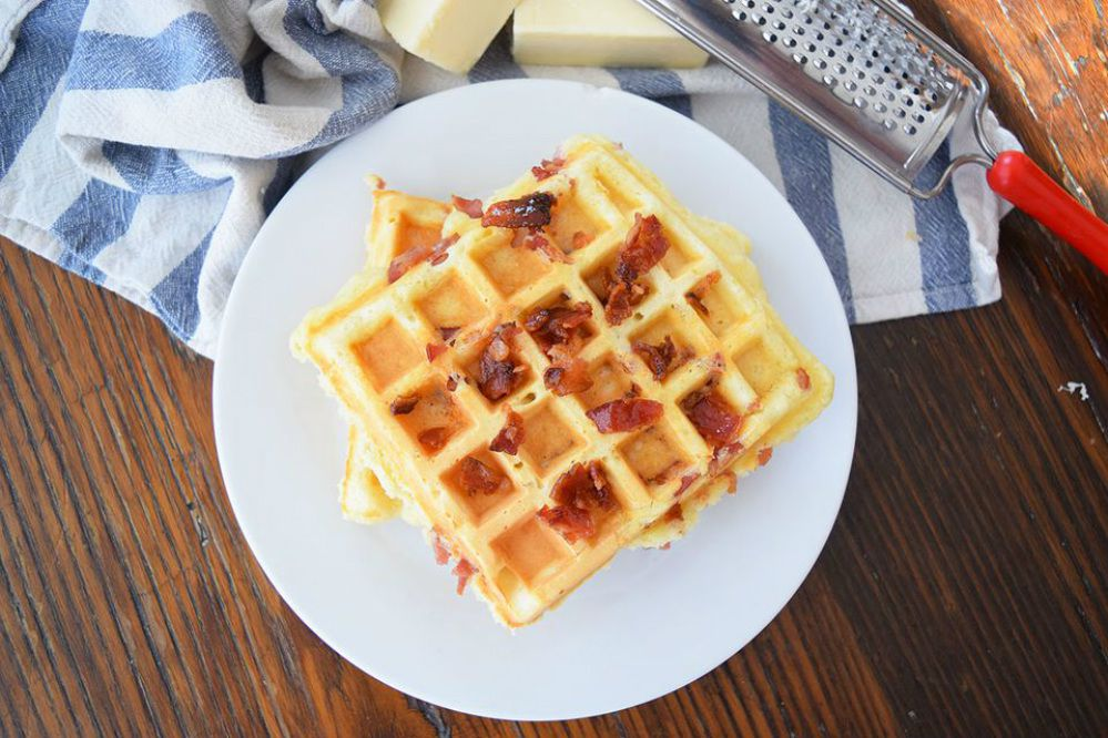 Bacon, Egg, and Cheese Waffles