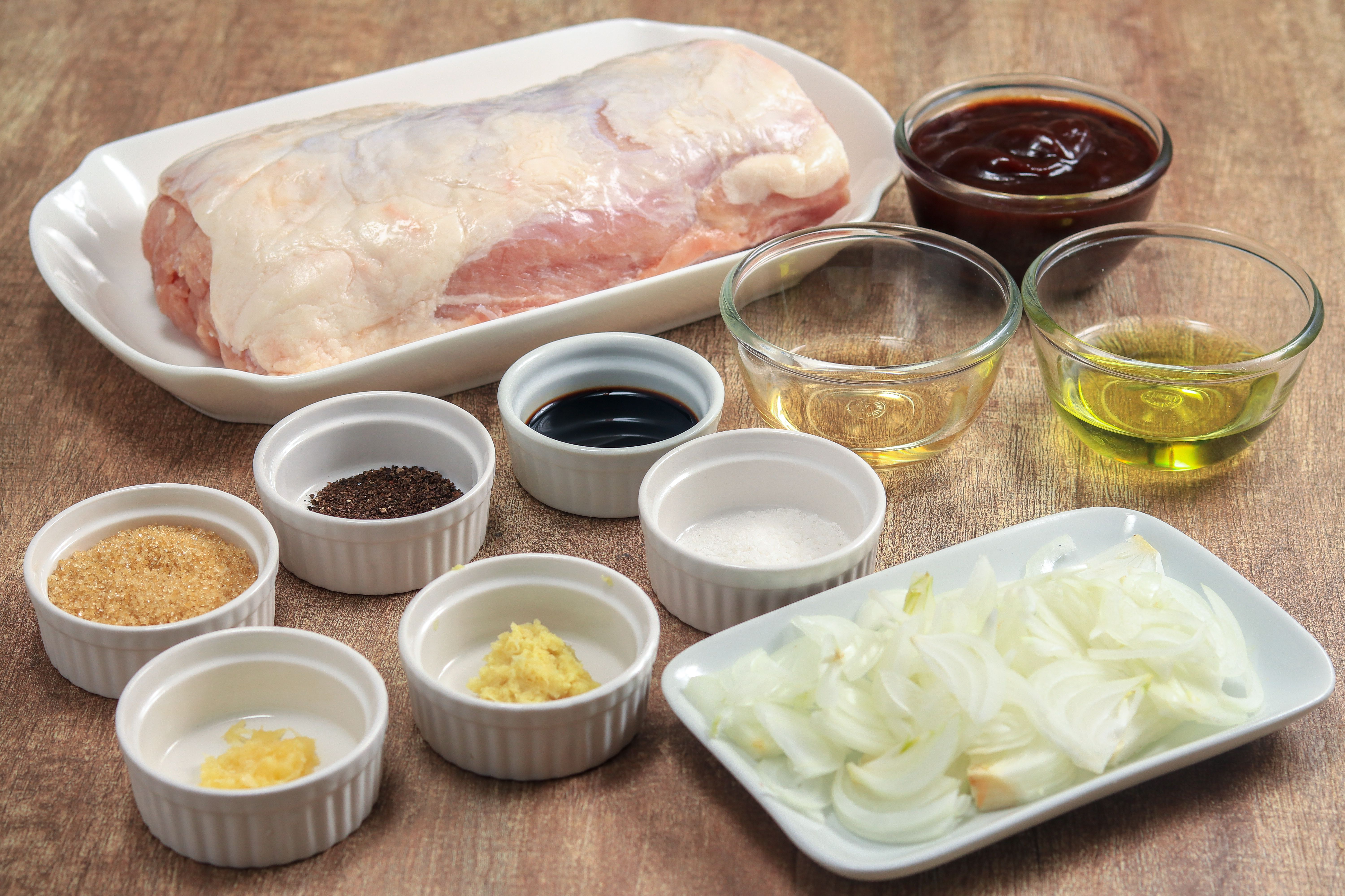 Slow Cooker Pork Loin Barbecue ingredients