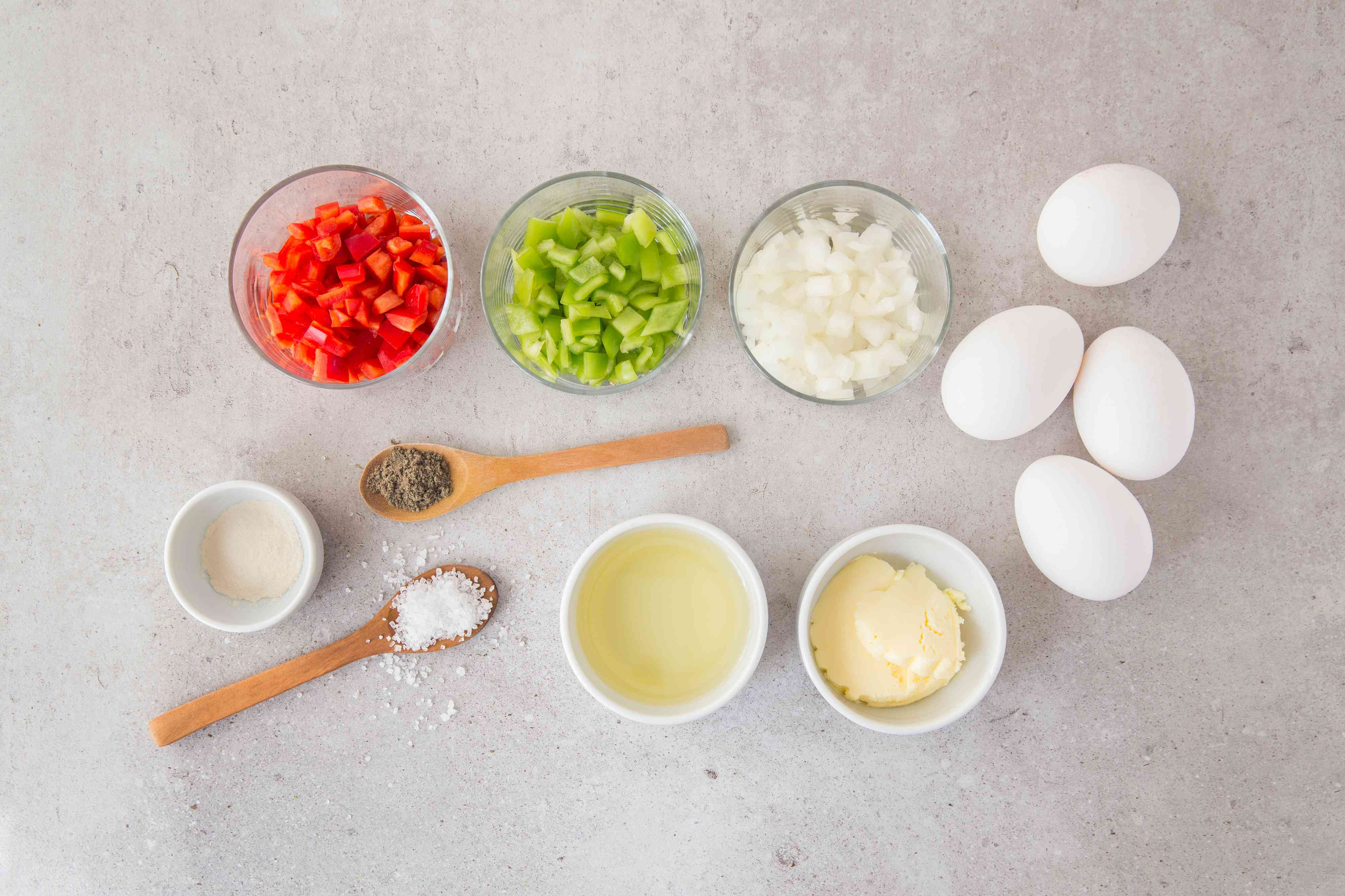 Easy Vegetarian Omelet With Bell Peppers ingredients