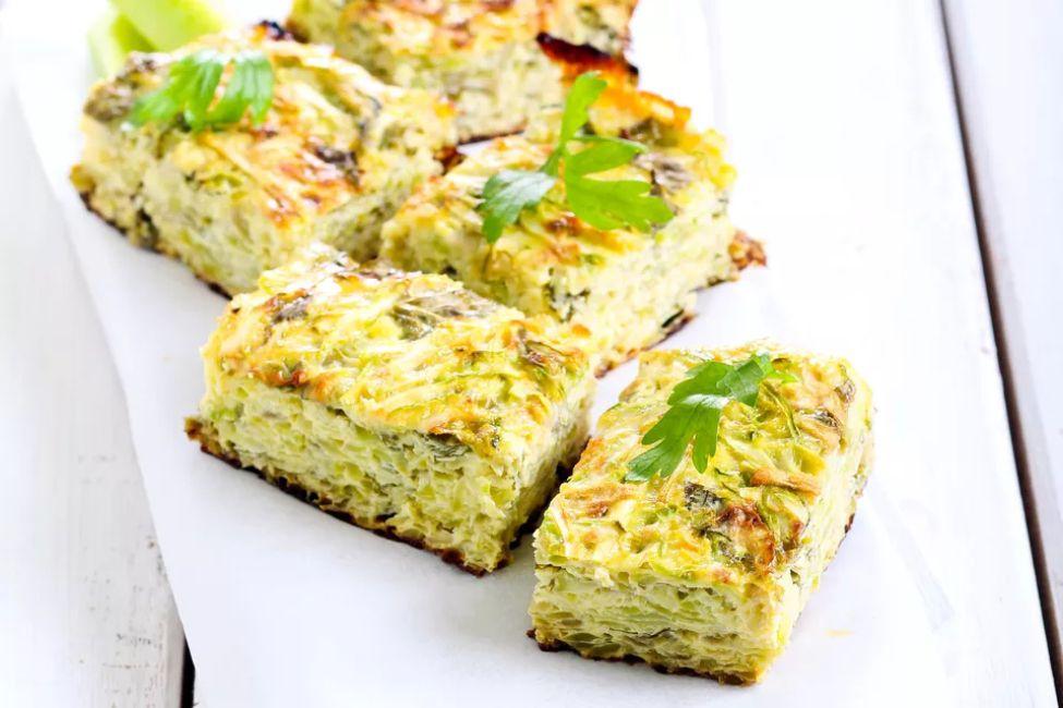 Parmesan zucchini squares