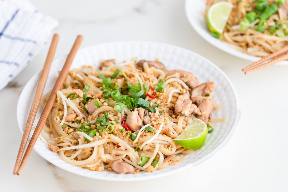 Chicken Pad Thai Noodles Recipe