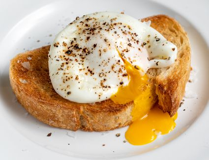 Microwaved poached egg