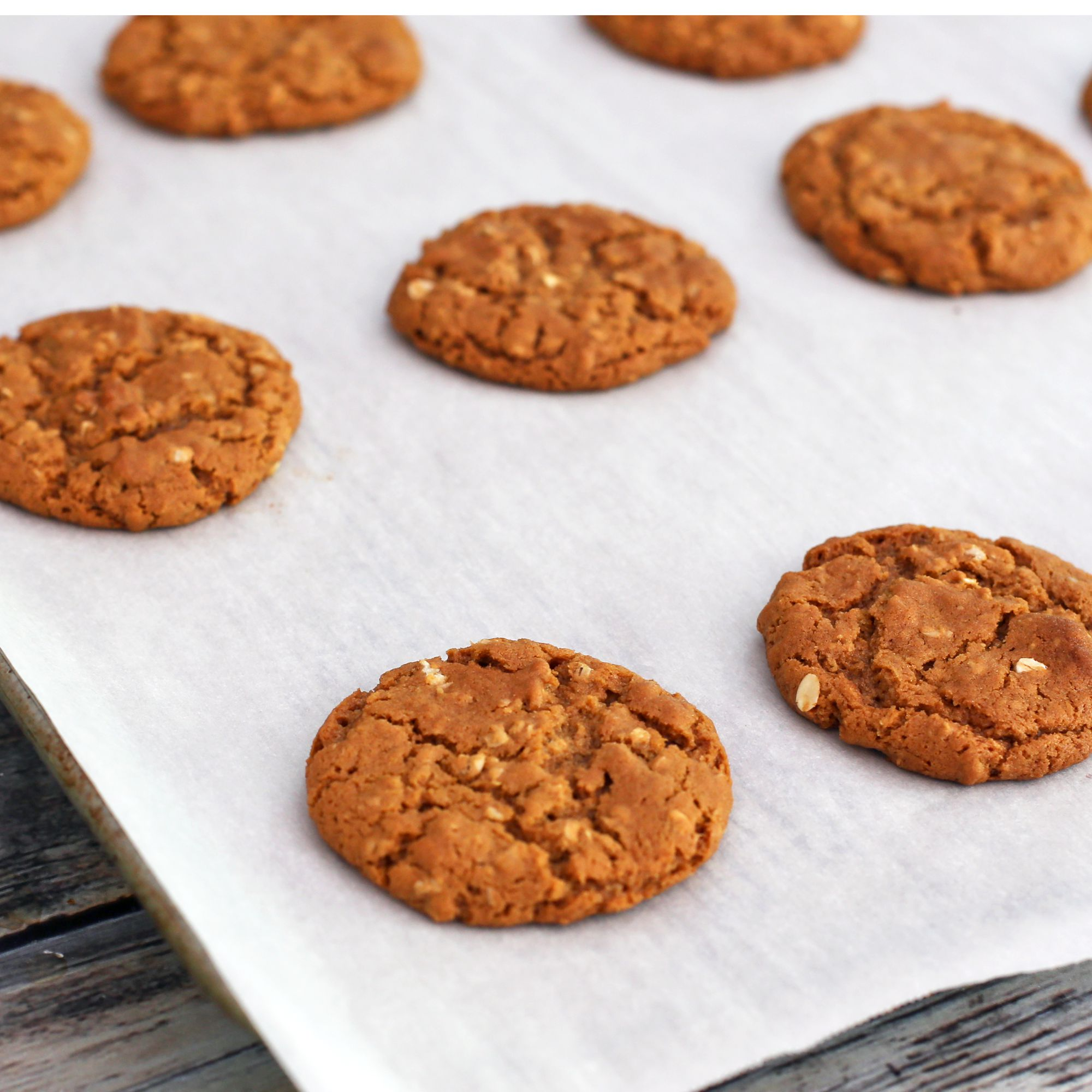 Chewy Oatmeal Molasses Cookies Recipe