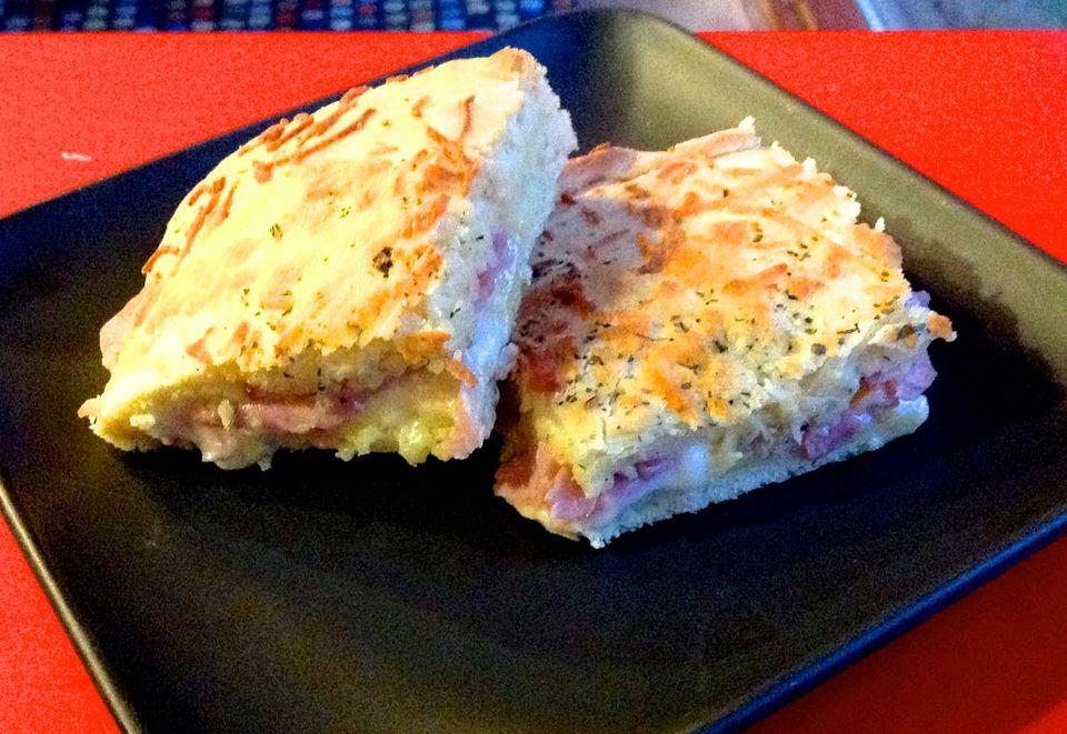 Jamón y queso al horno - Bauru de Forno