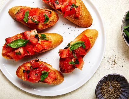 Easy vegan bruschetta recipe