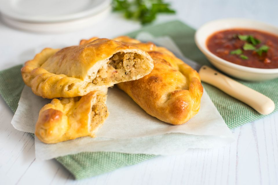 Turkey and stuffing calzones