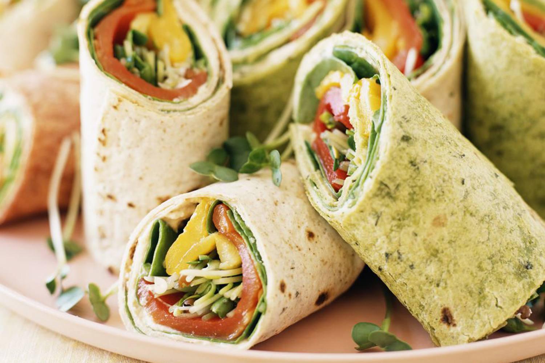 Vegan Cream Cheese Veggie Wraps