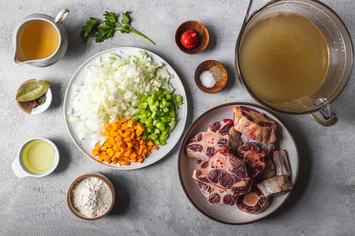 Ingredients for oxtail soup