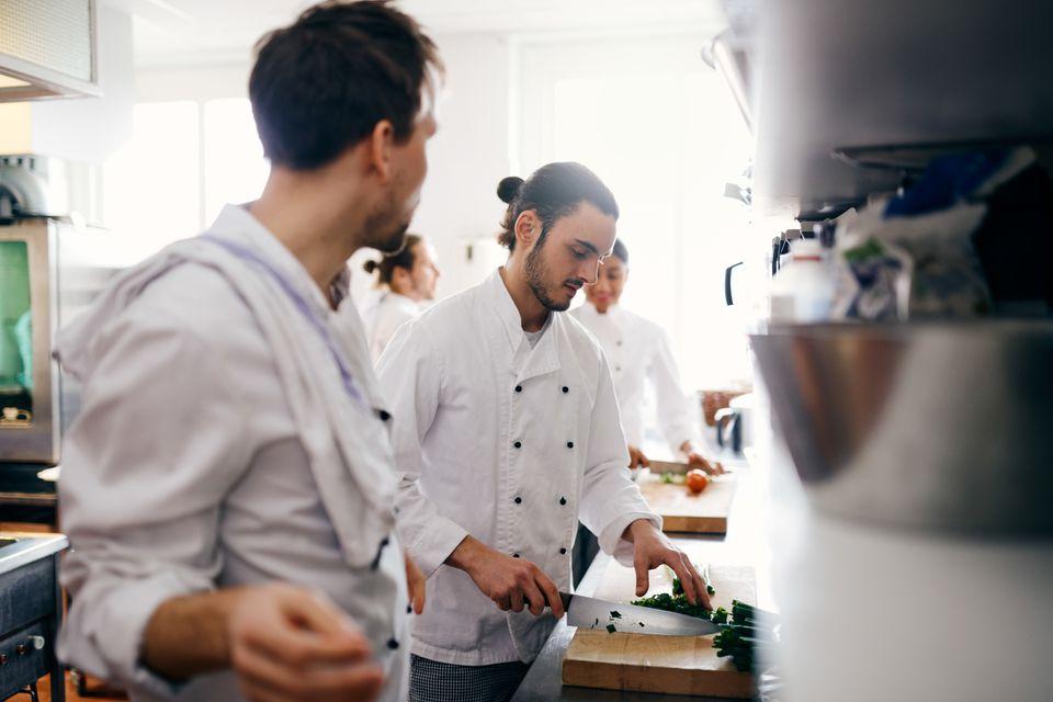 gourmet chefs working