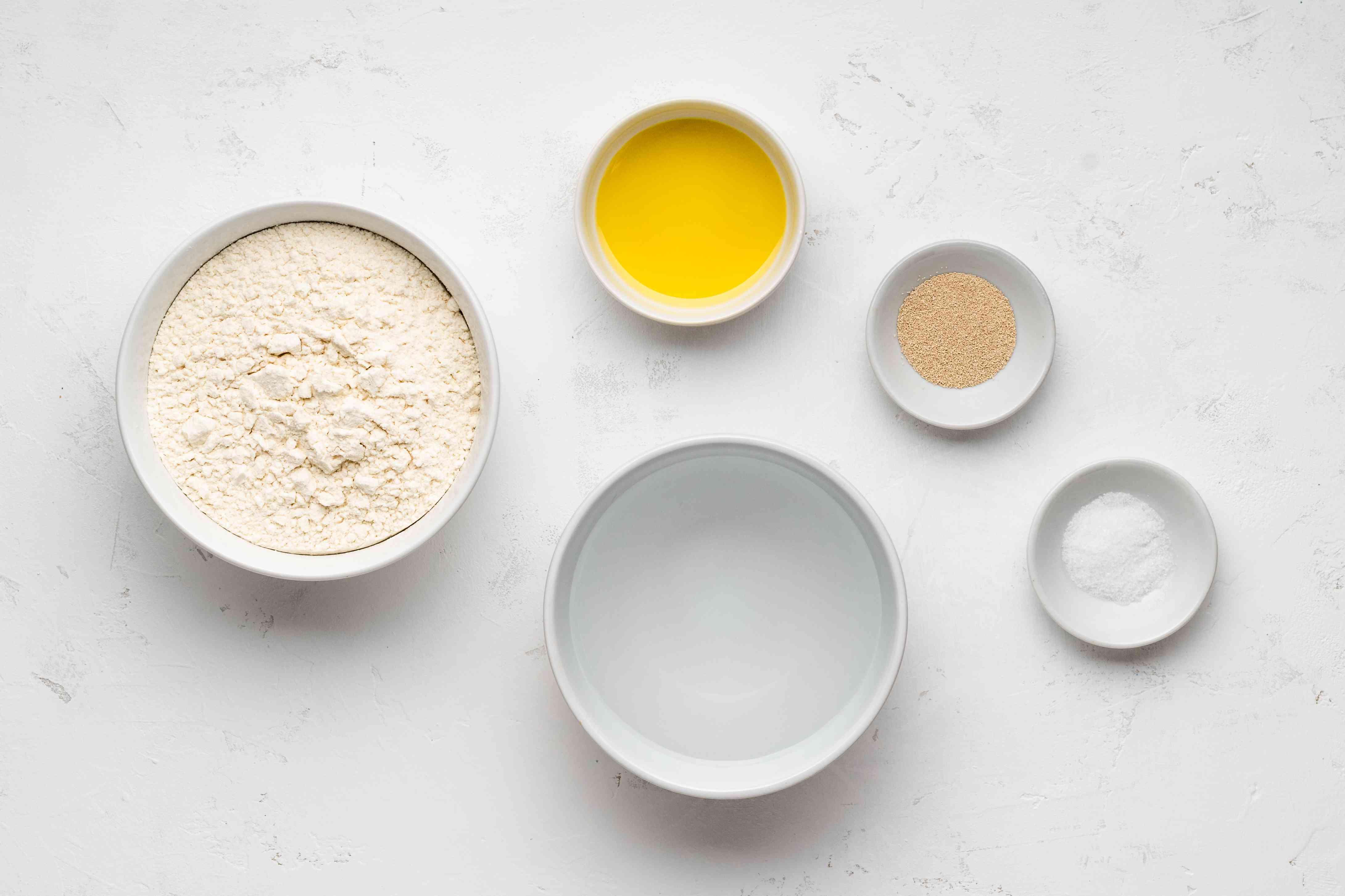 Homemade Turkish lahmacun ingredients