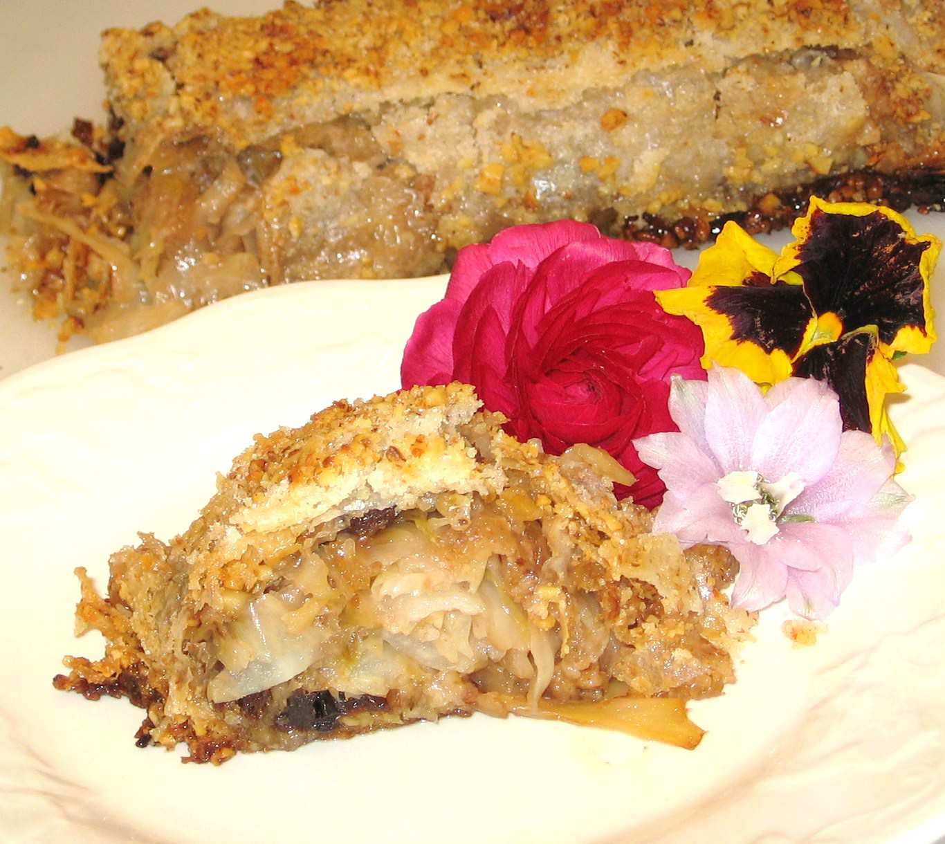 Hungarian Sweet Cabbage Strudel