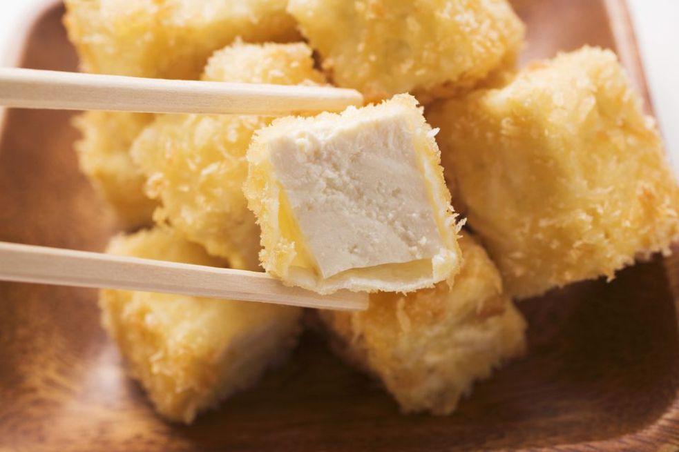Vegan Cornmeal Breaded Tofu