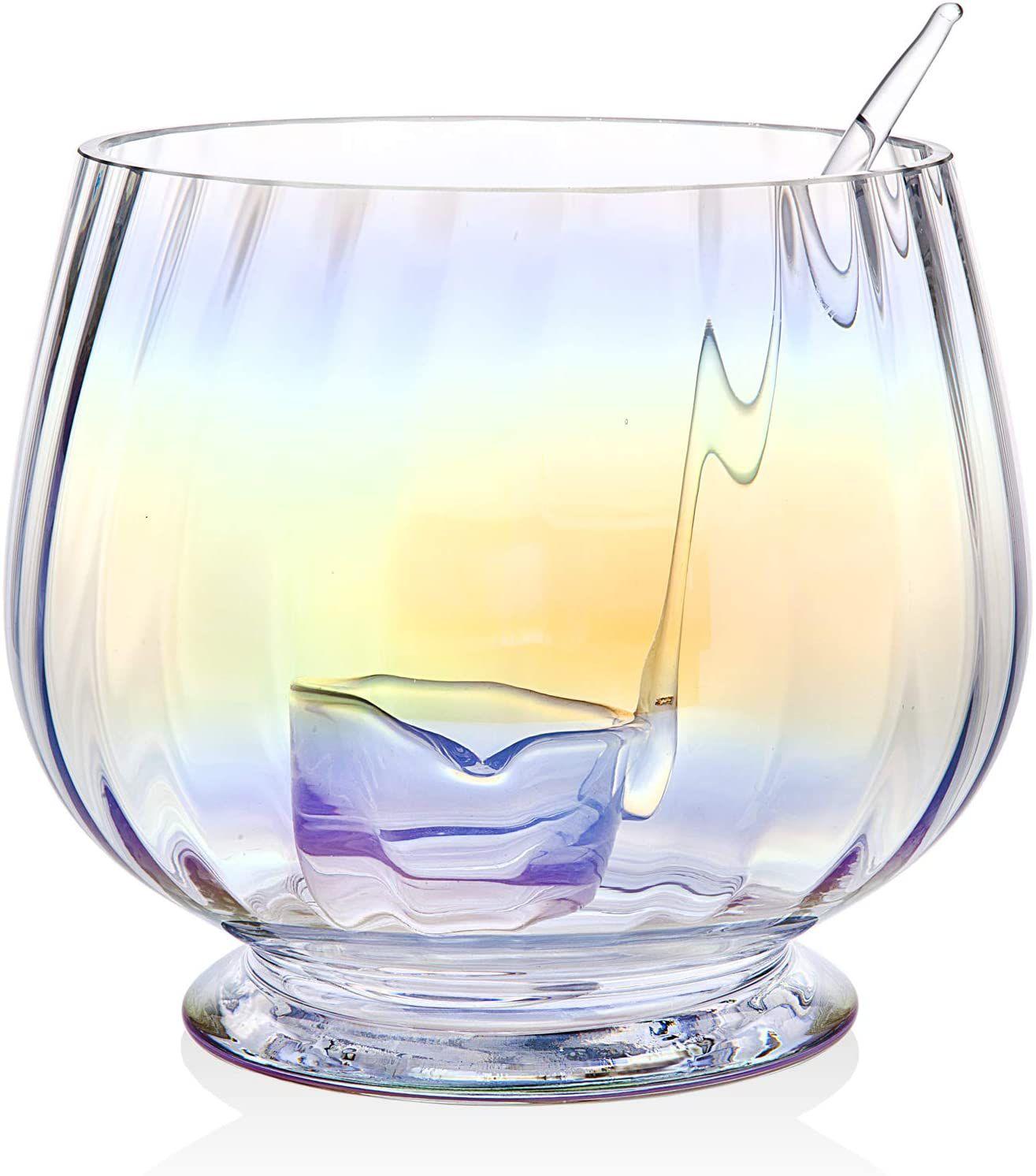 Godinger Monterey Iridescent Punch Bowl & Ladle Set