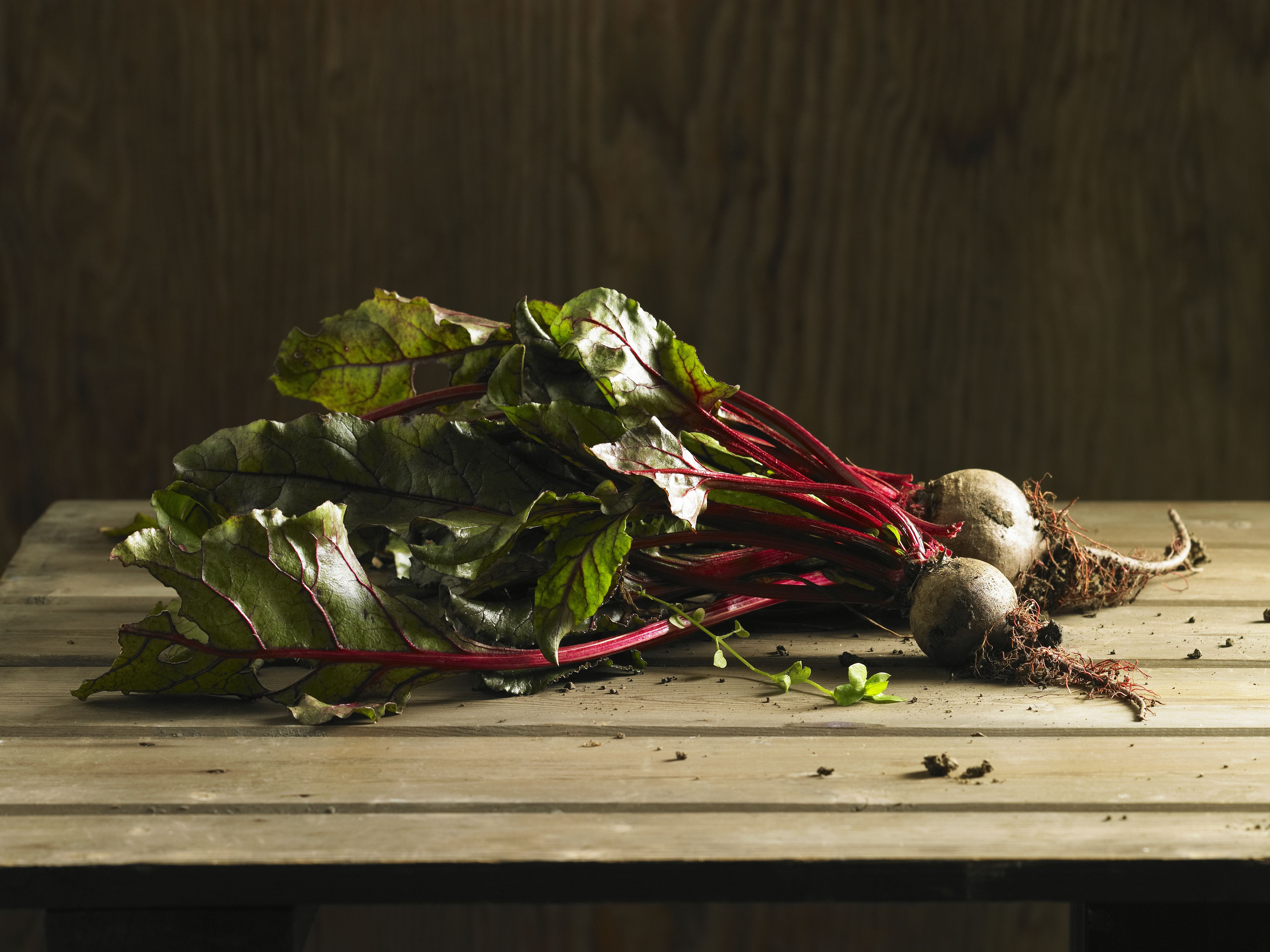 Beets With Their Greens Attached