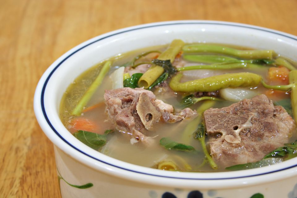 Pork Sinigang in bowl