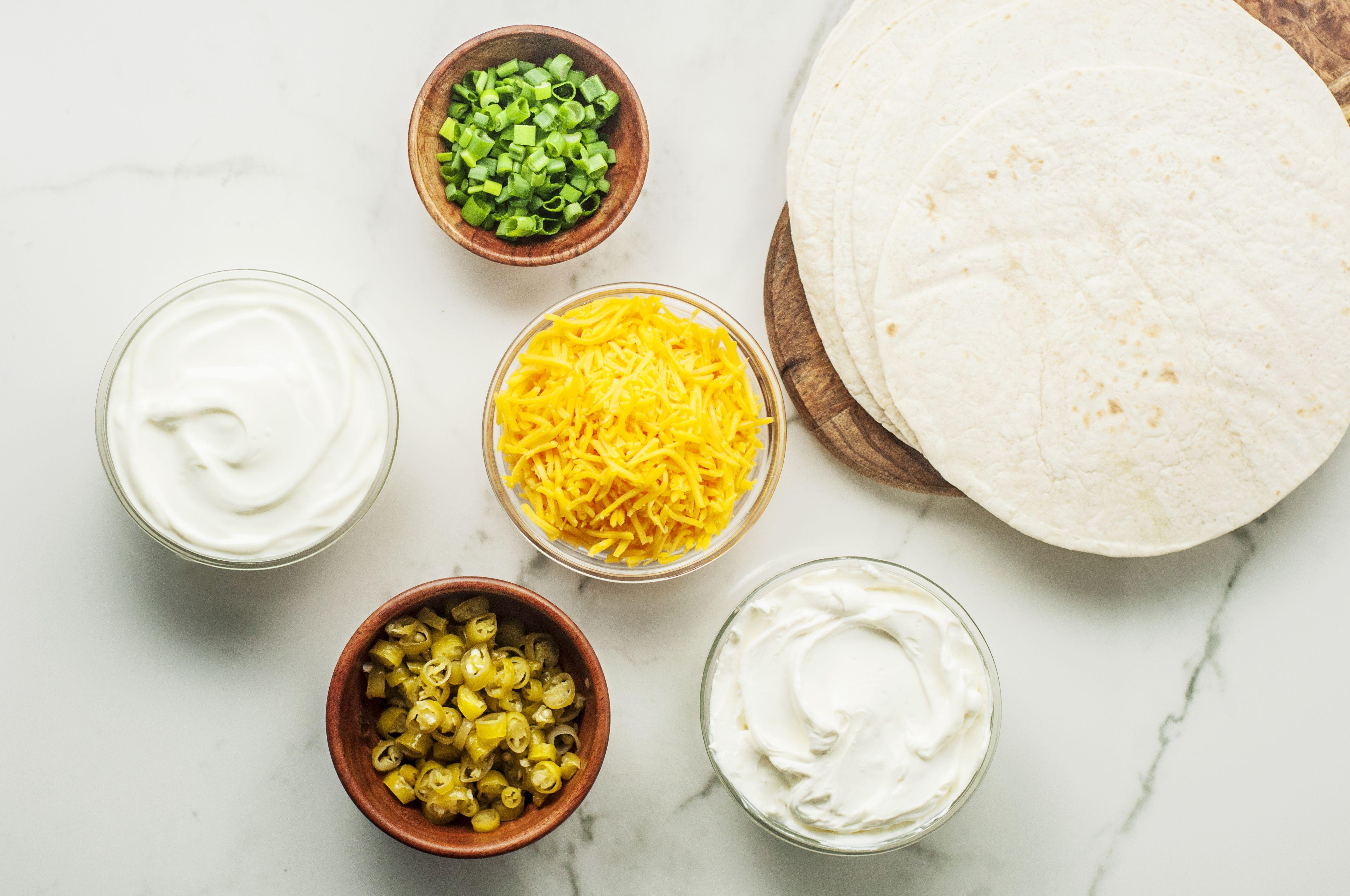 Tortilla pinwheels ingredients