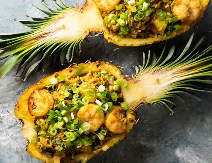 Thai Fried Rice With Pineapple and Prawns