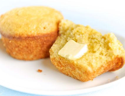 Cornbread muffins served with butter