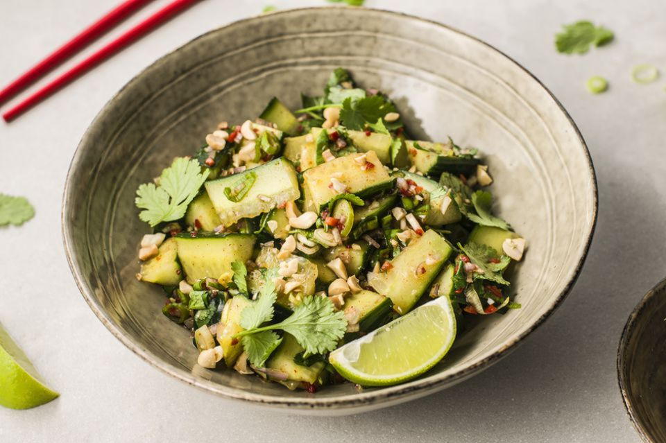 10-Minute Thai Cucumber Salad With Peanuts