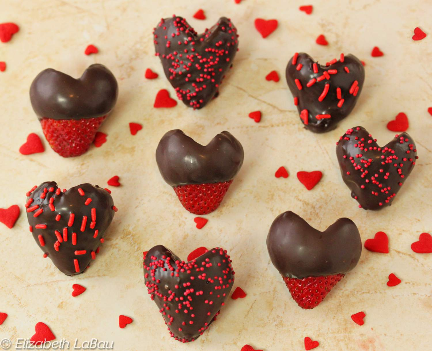 Chocolate-Dipped Strawberry Hearts