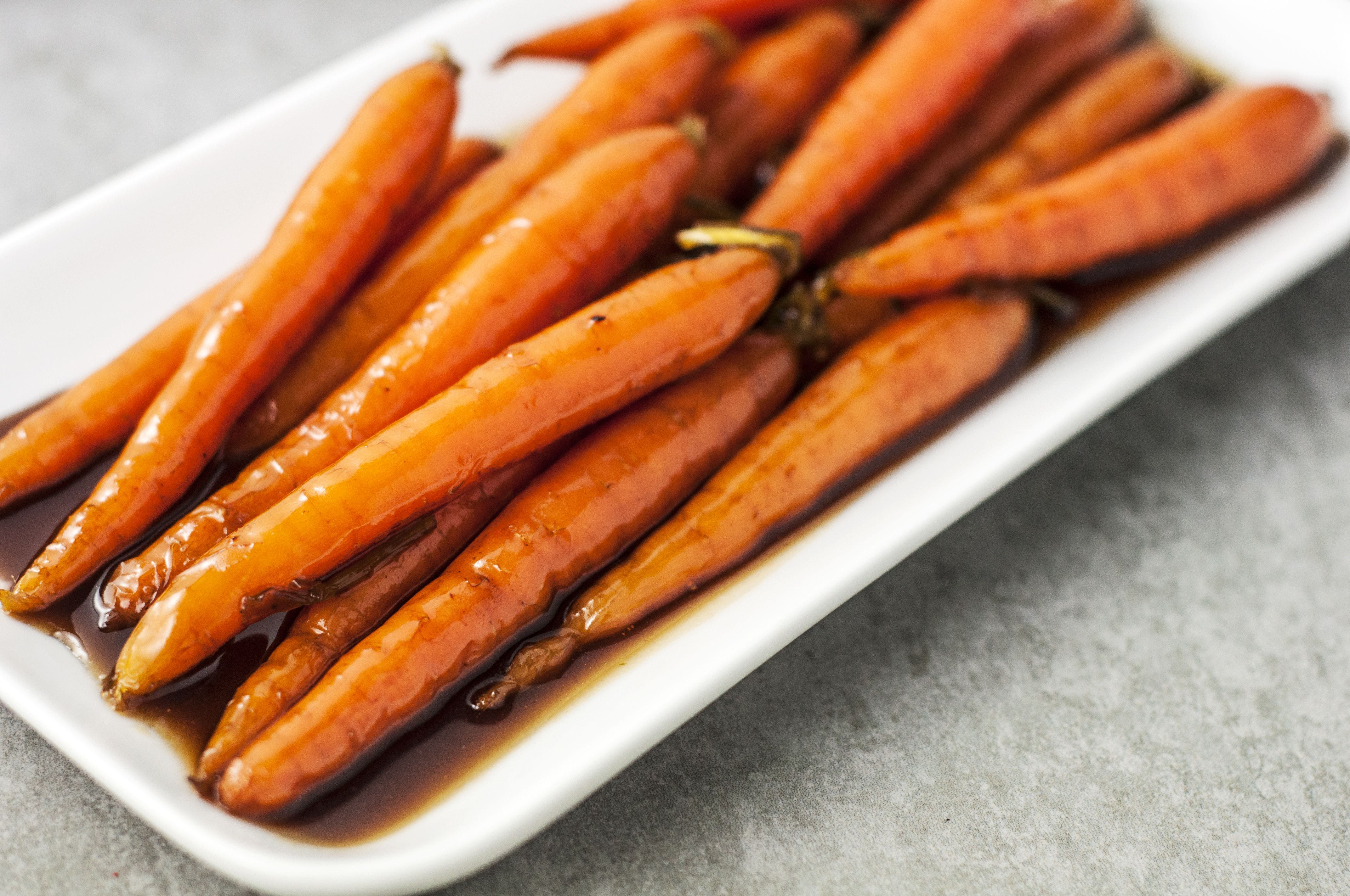 Brown Sugar Glazed Carrots plated