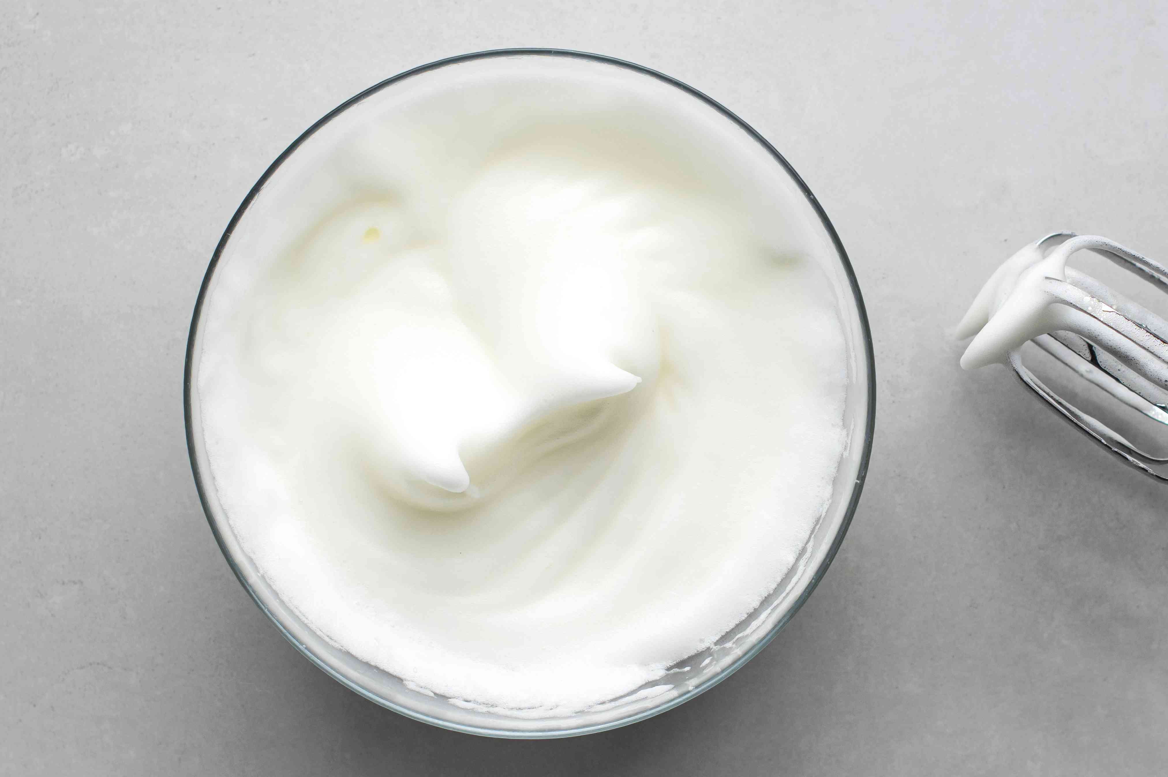 beat egg whites with a hand mixer