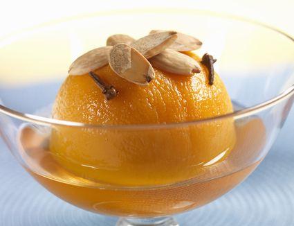 Spiced poached peach