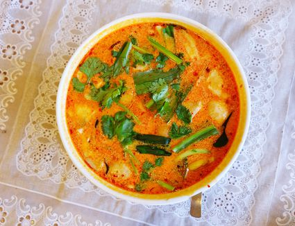 Tom Yum Soup in bowl
