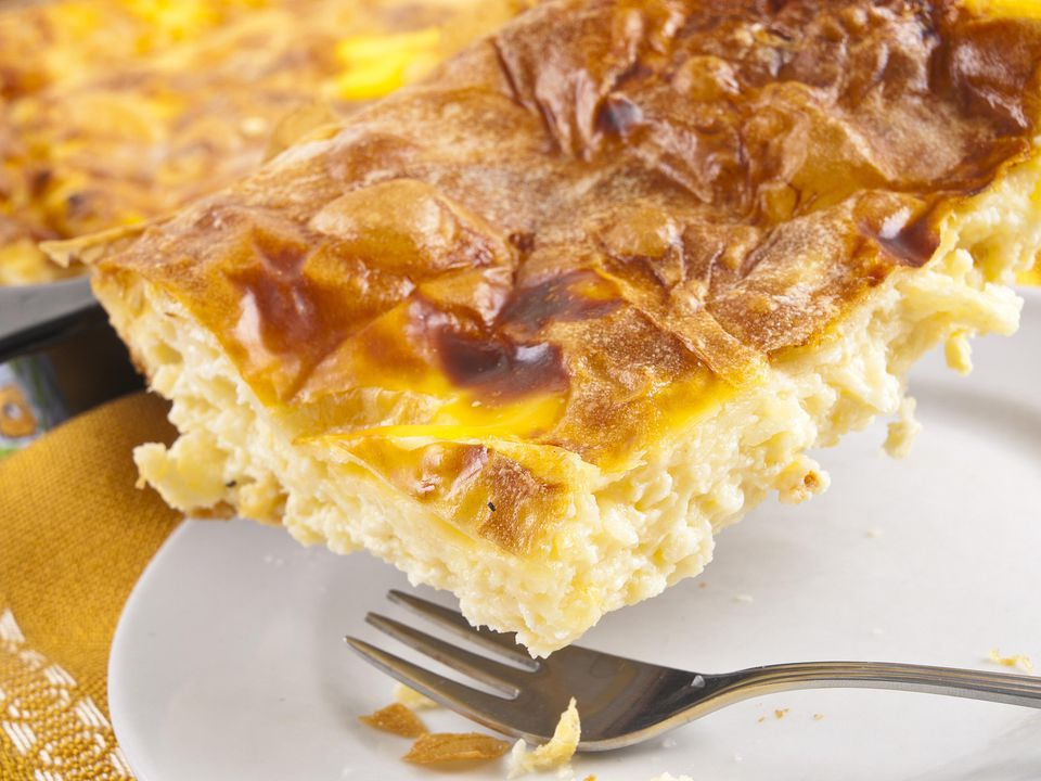Crispy Filo Sausage Egg Bake