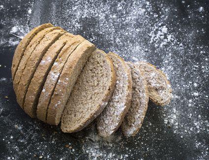 Fresh loaf of whole grain bread