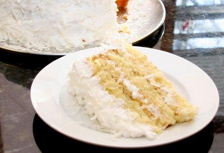 easy sour cream coconut cake recipe