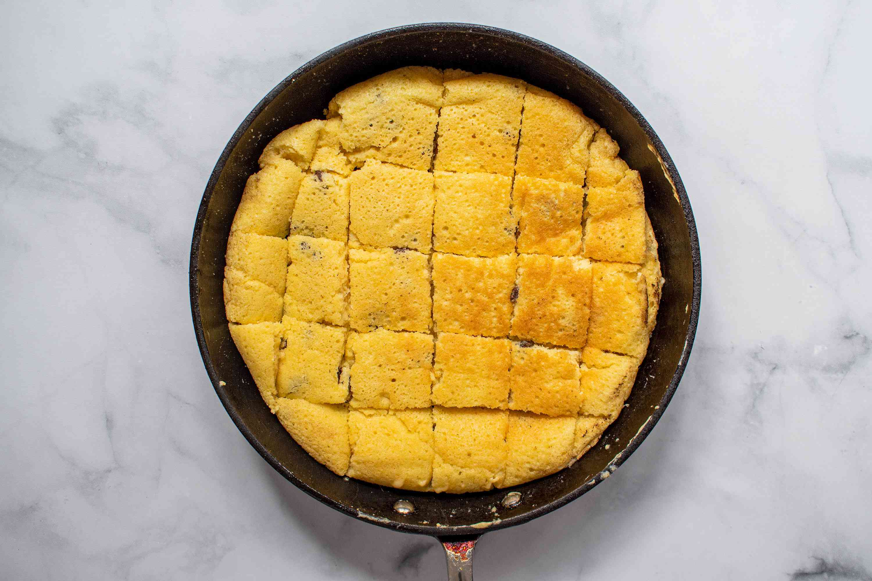Austrian pancake cut into pieces