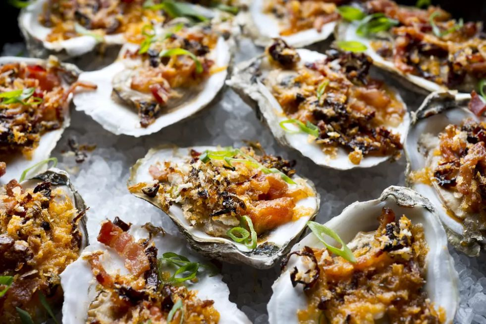 Oysters casino with bacon