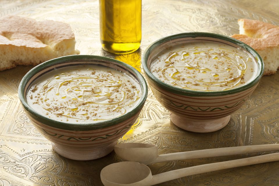 Moroccan Fava Bean (Broad Bean) Dip or Soup - Bessara