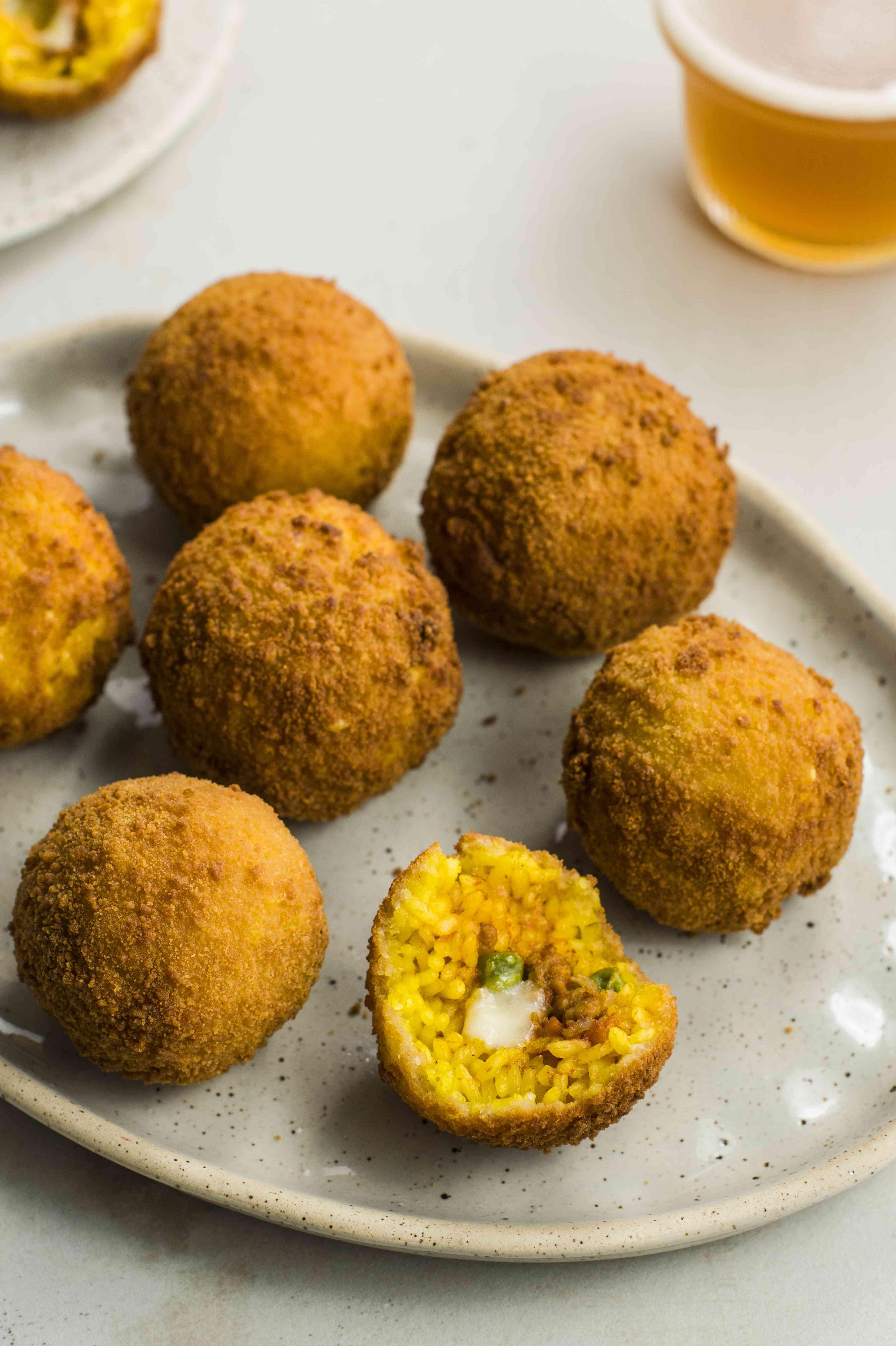 Classic Sicilian arancini rice balls