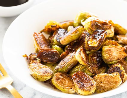 Balsamic Vinegar Roasted Brussels Sprouts