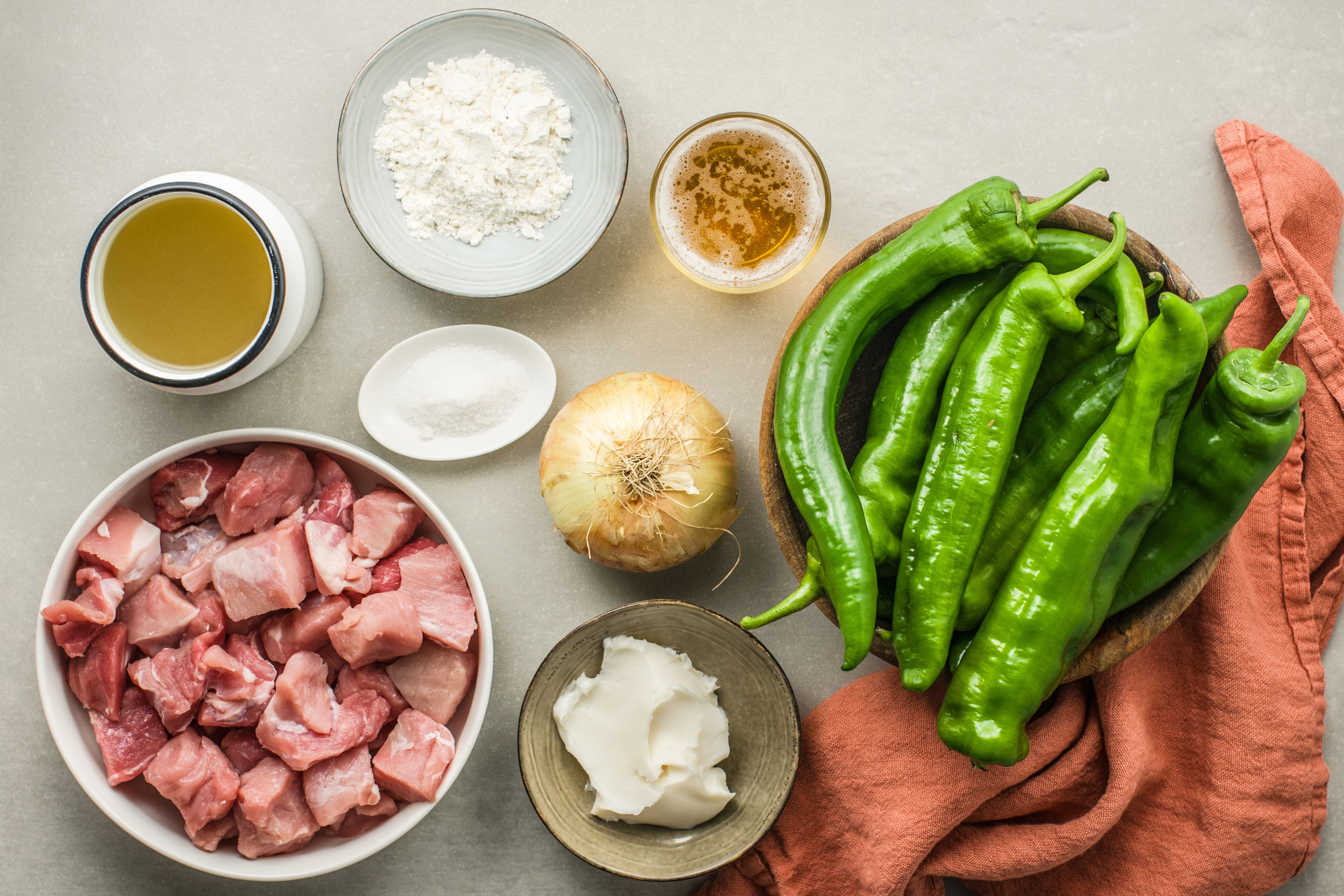 Pork Green Chili With Green Roasted Chiles Recipe