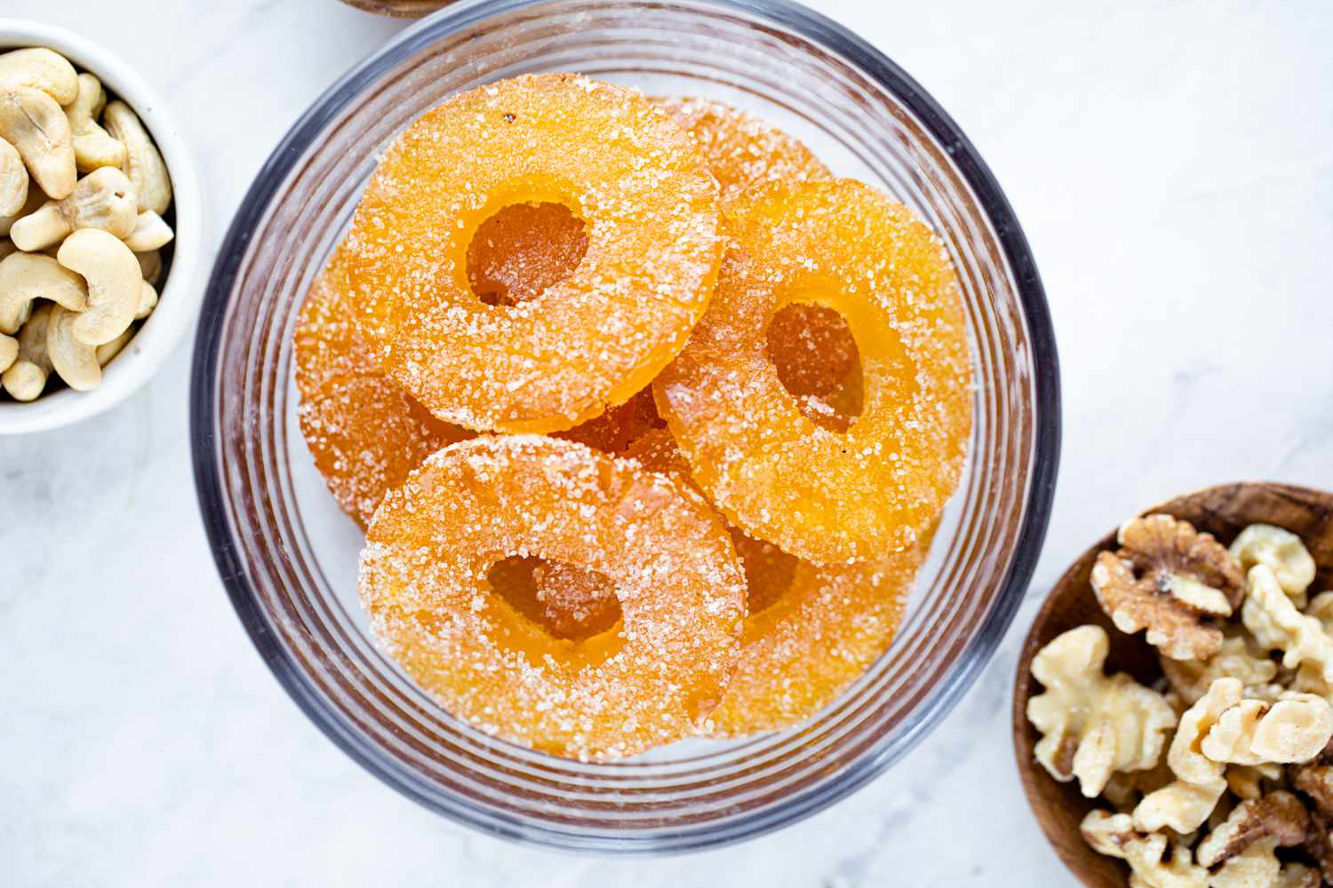 Candied Pineapple in a bowl
