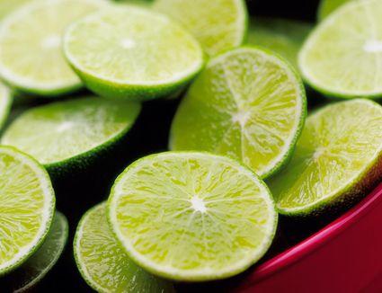 Sliced key limes