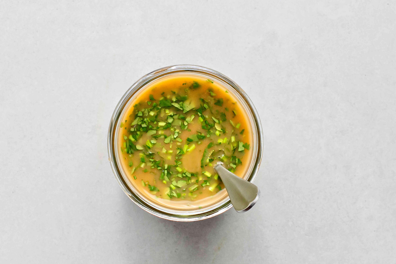 Low Calorie Asian Salad Dressing in a jar