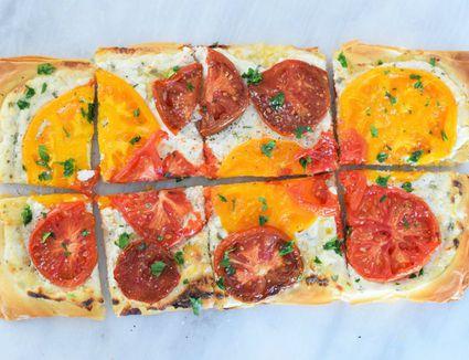 Heirloom Tomato and Ricotta Phyllo Tart