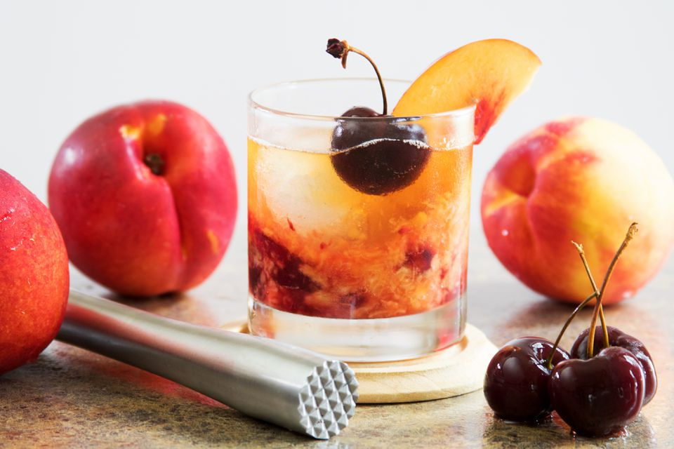Reposado Old-Fashioned With Tequila and Nectarines