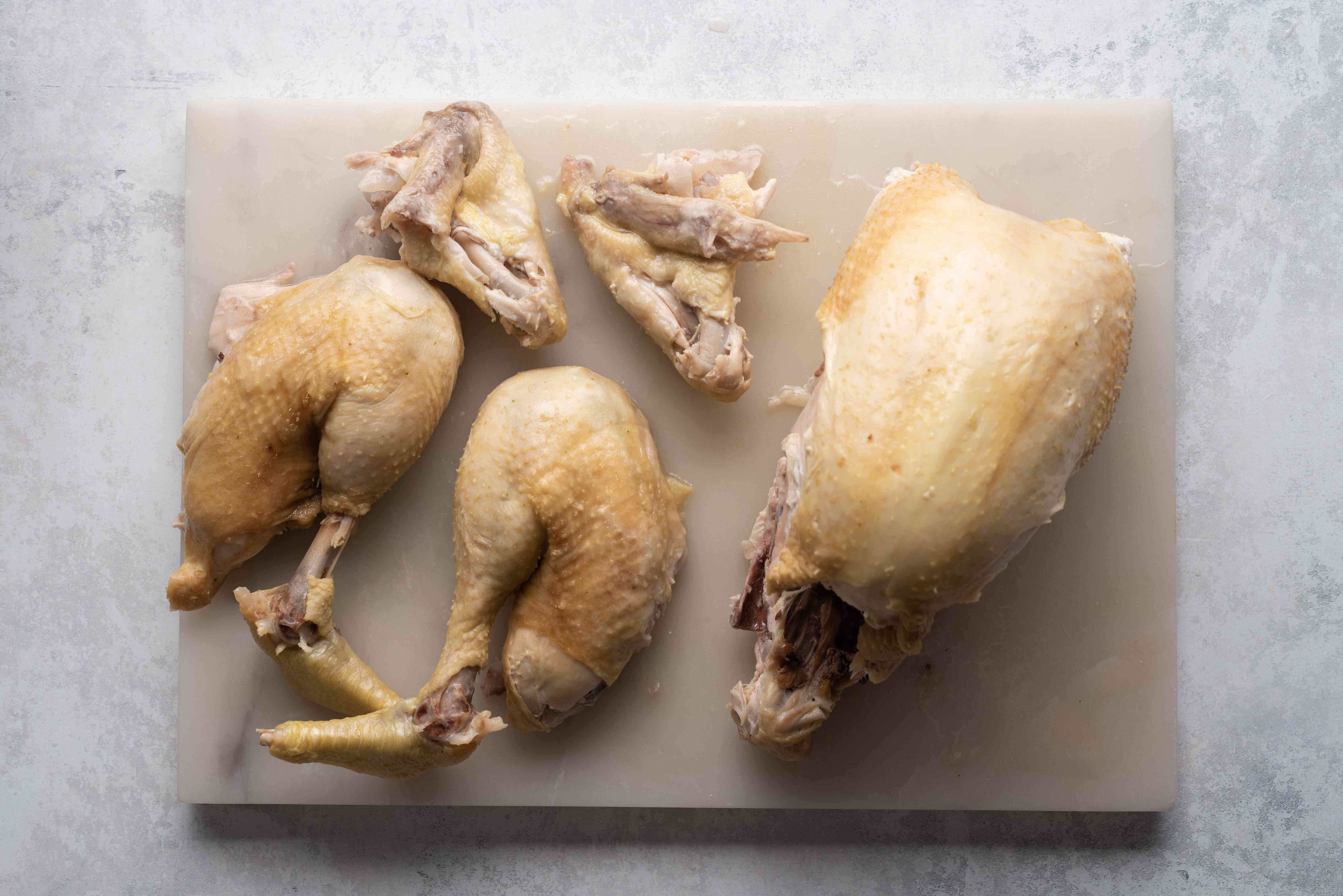 chicken with the wings removed