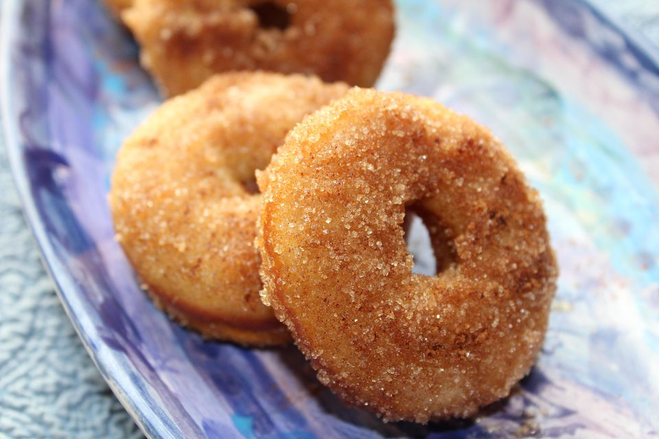 Baked Olive Oil Doughnuts