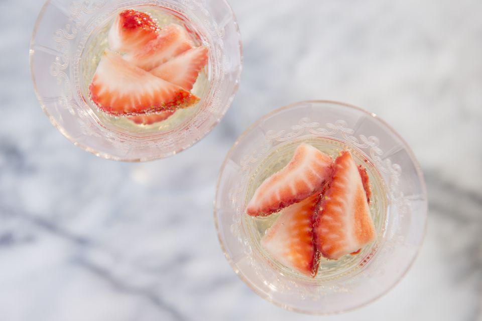 Cherub's Cup Fresh Strawberry and Elderflower Liqueur Cocktail