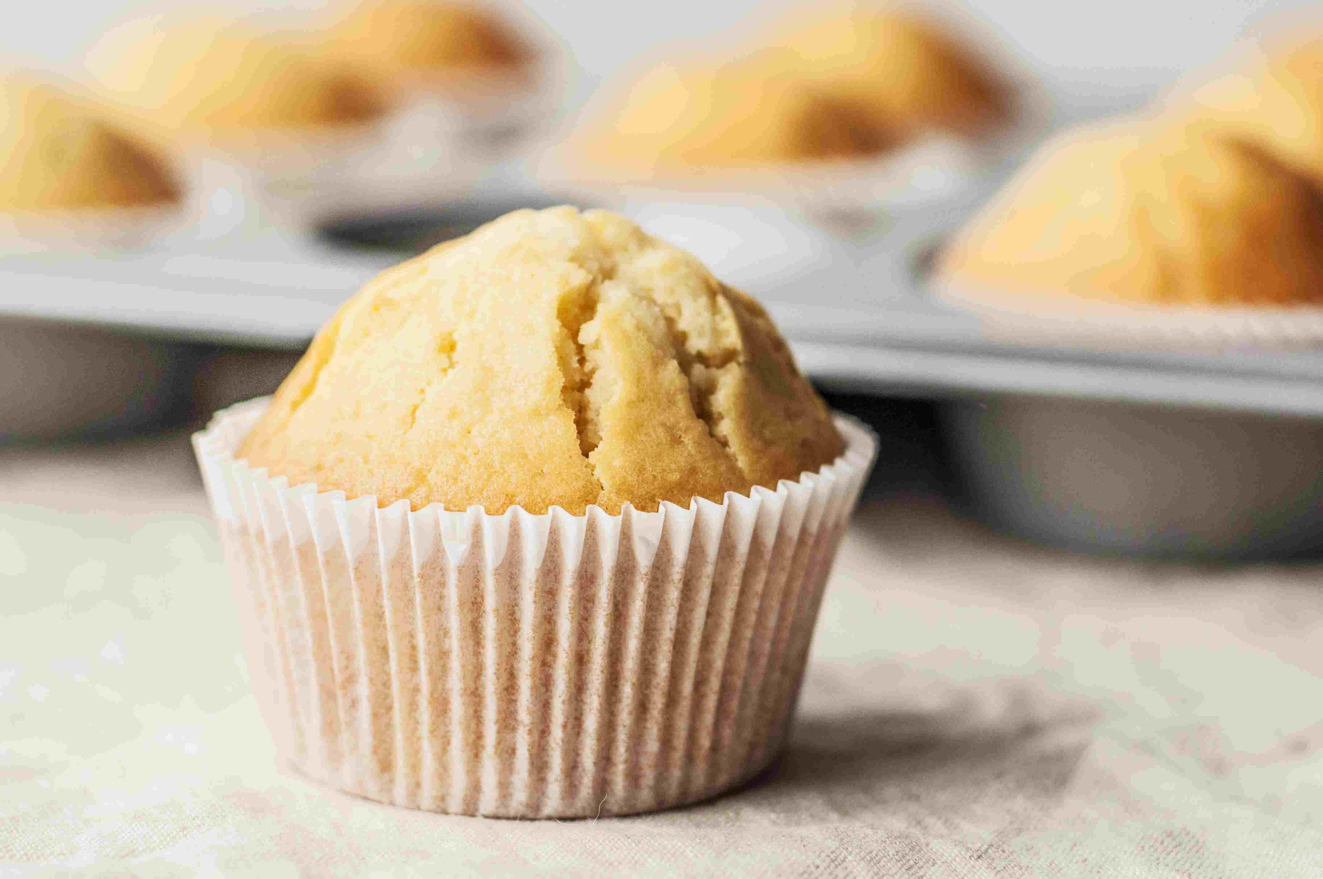 Finished vanilla muffins