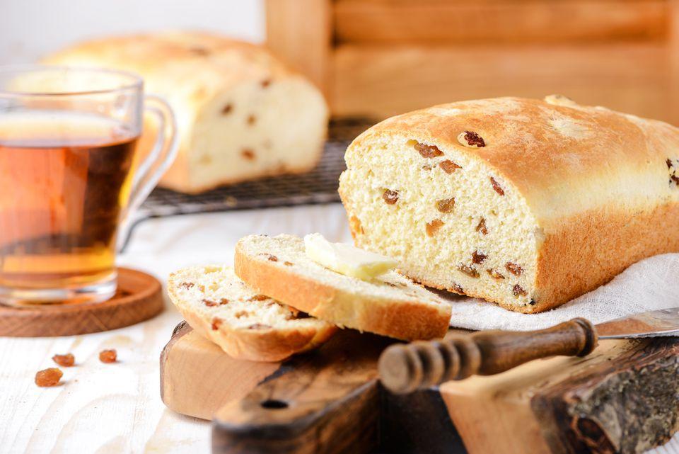 Receta para pan de pasas casero